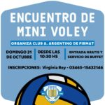 ENCUENTRO DE MINI VÓLEY EN ARGENTINO DE FIRMAT